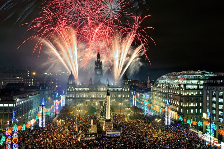 Glasgow's Christmas lights switch on