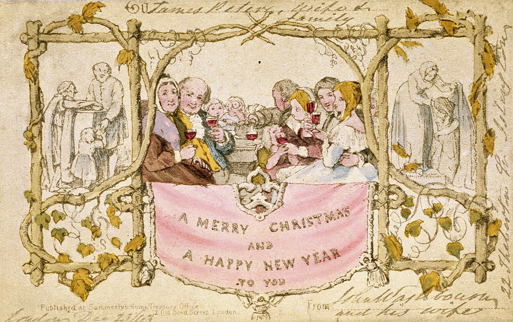 the world's first Christmas card John Callcott Horsley 1843