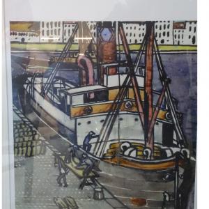 Médiathèque aqurelle the boat