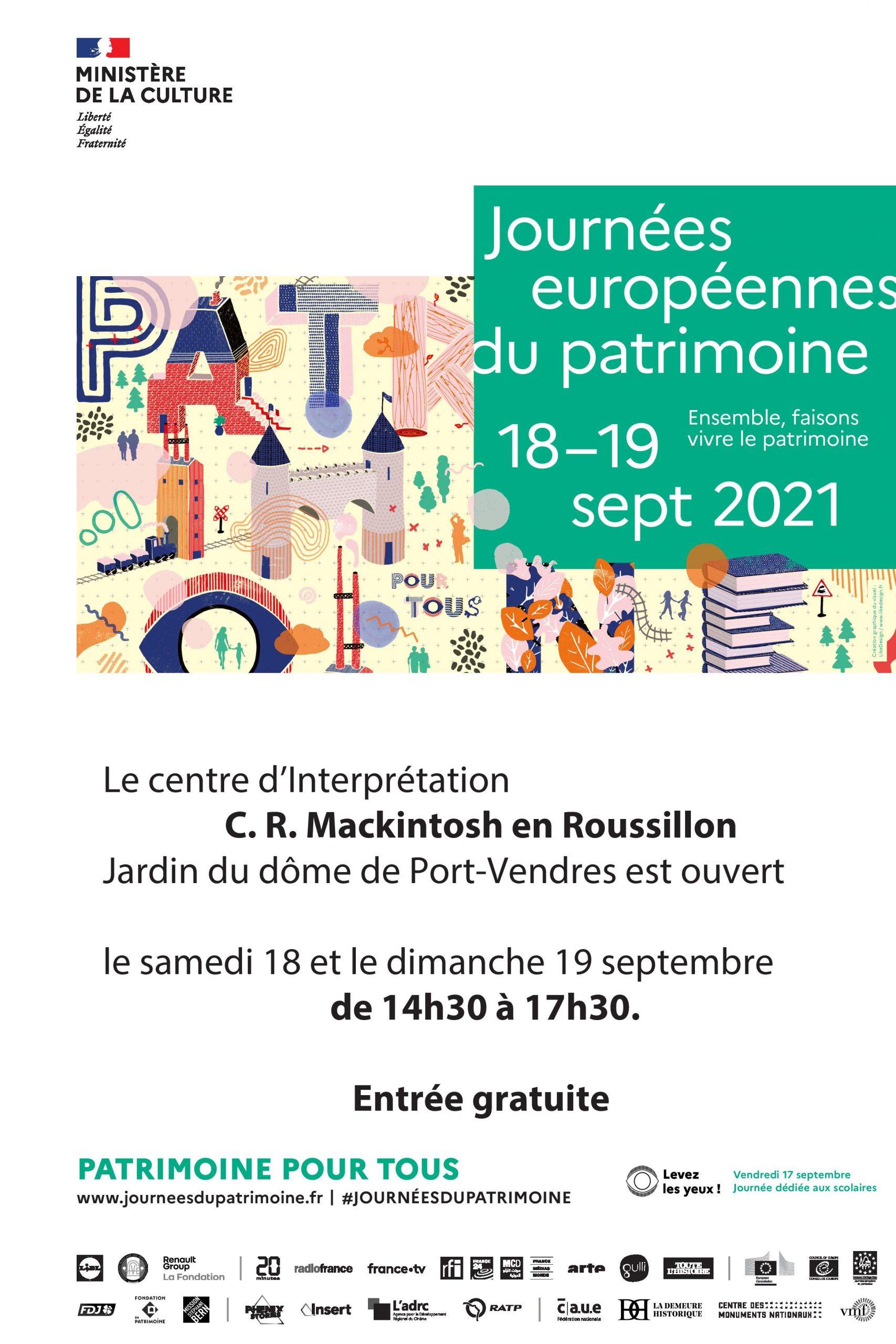 Porte ouverte des centres Charles Rennie Mackintosh en Roussillon aux journées du patrimoine